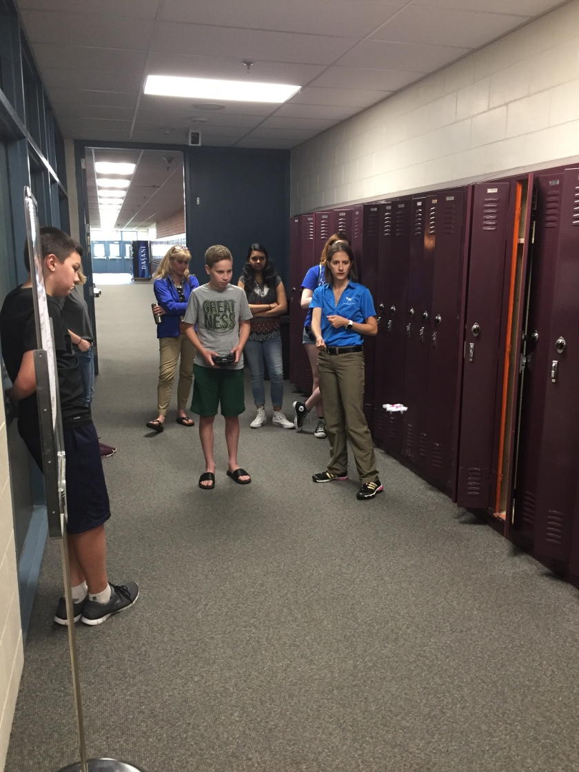 AV 7th grader flying drone