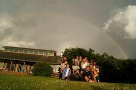 AV Eagle Convo group with rainbow