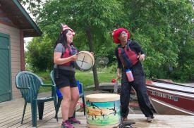 AV Eagle Convo kids drumming for returning trips