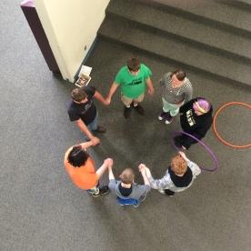 Cool top vew hula hoop