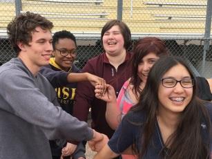E3 STEM team problem sovling all smiles