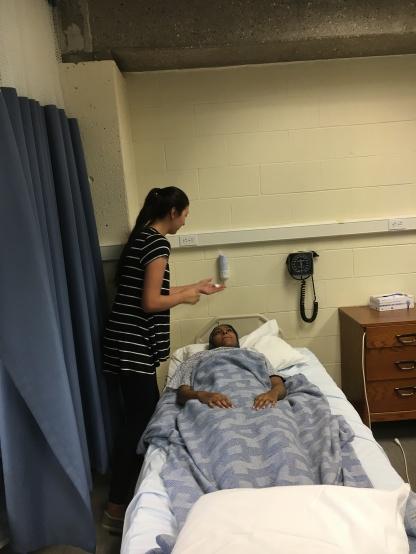 Fathem practicing clinical skill