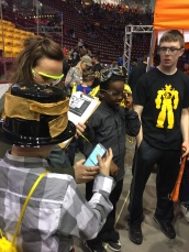 Squires with robot team