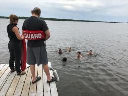 Swim test pre-trail